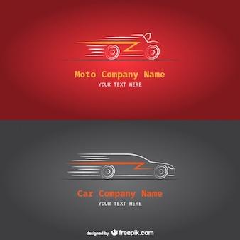 Carro e moto logotipos de empresas