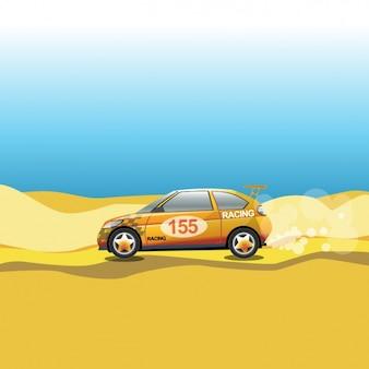 Carro em um deserto