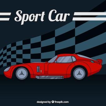 Carro esporte esboçado