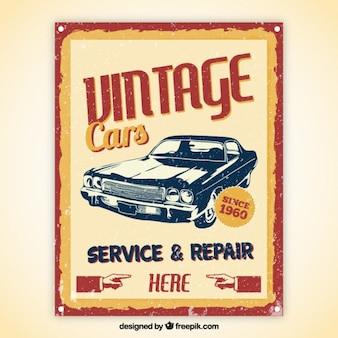 Carros do vintage poster