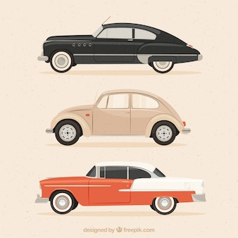 Carros elegantes no estilo retro