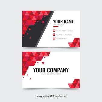Cartão abstrato corporativo