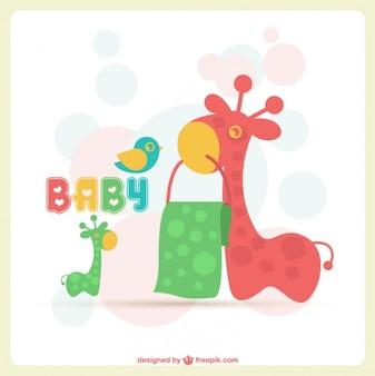 Cartão adorável bebê