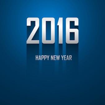 Cartão azul do ano novo 2016