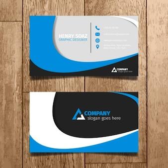 Cartão azul Minimal
