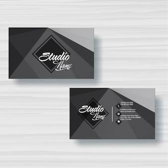 Cartão com formas geométricas em tons de cinza