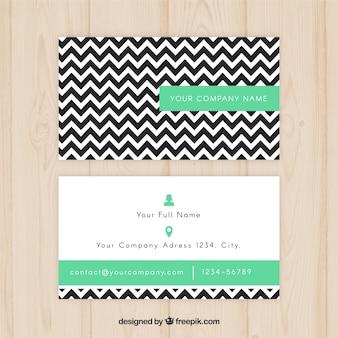 Cartão com linhas zig-zag preto