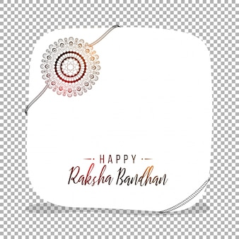Cartão com rakhi floral para Raksha Bandhan.