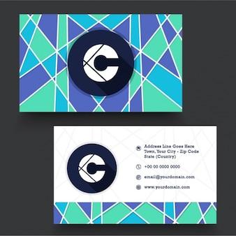 Cartão corporativo colorido formas geométricas