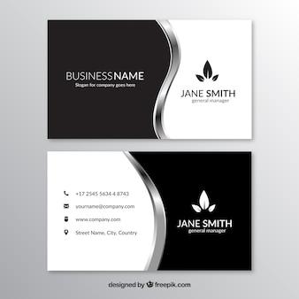 Cartão corporativo com formas onduladas metálico