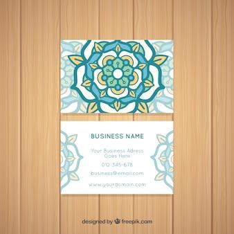 Cartão corporativo de mandala
