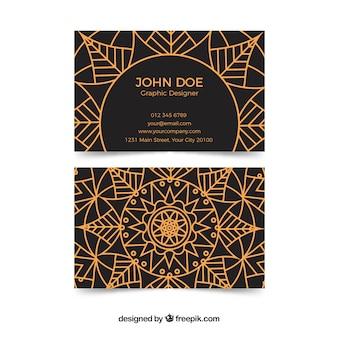 Cartão corporativo elegante com mandala