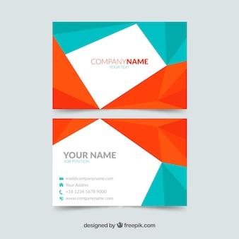Cartão corporativo geométrico colorido