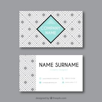 Cartão corporativo geométrico