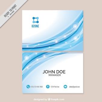 cartão corporativo ondas azuis moderna