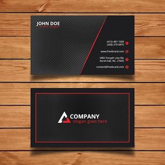 Cartão corporativo preto e vermelho brilhante