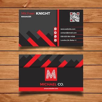 Cartão criativo vermelho e cinzento