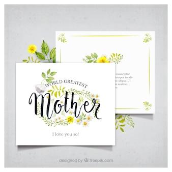 Cartão da aguarela para o dia de mãe