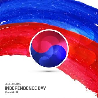Cartão da celebração de Coreia do Sul