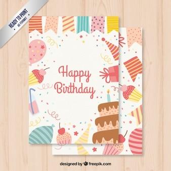 Cartão de aniversário bonito