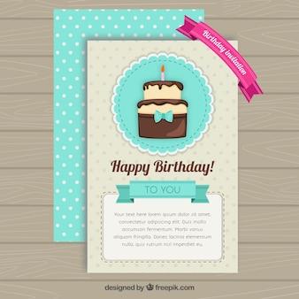 Cartão de aniversário feliz bonito