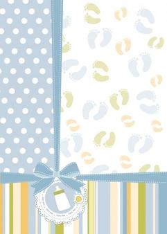 Cartão de Babyshower com pés das cópias