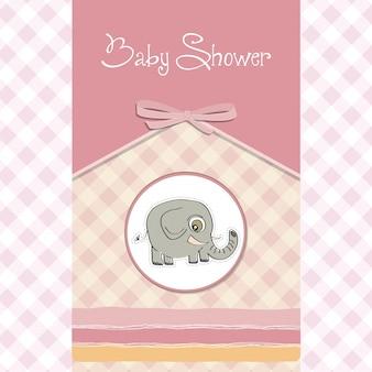 Cartão de banquete de bebê romântico