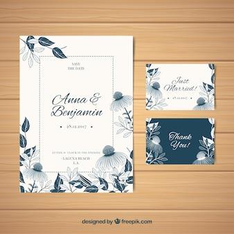 Cartão de casamento clássico