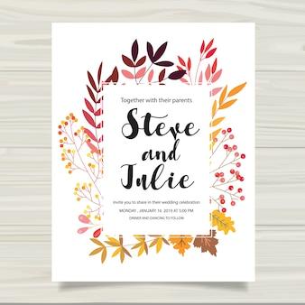Cartão de casamento multicolorido
