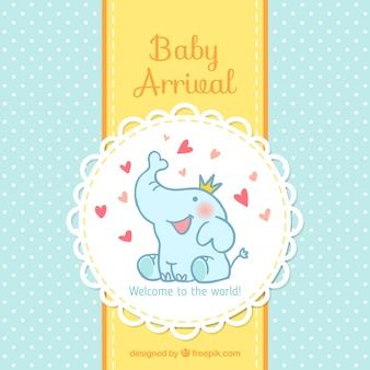 Cartão de chegada do bebê