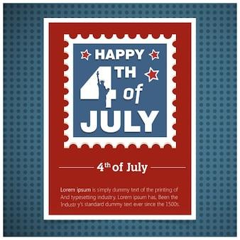 cartão de convite à moda de 04 de julho