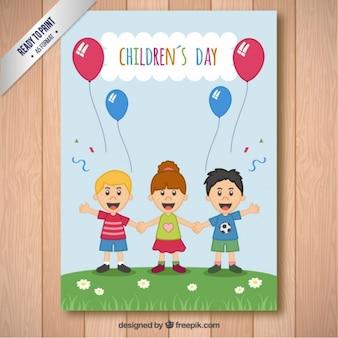 Cartão de dia das crianças engraçadas