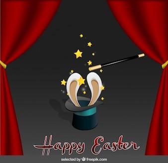 Cartão de Easter com chapéu do mágico