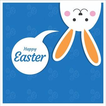 Cartão de Easter com coelho bonito