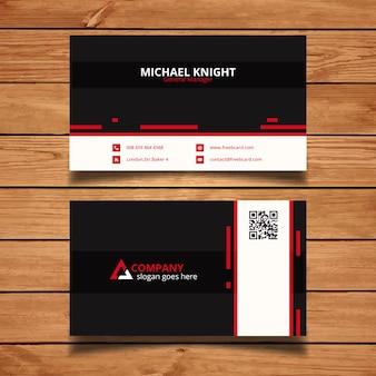 Cartão de empresa preto e vermelho