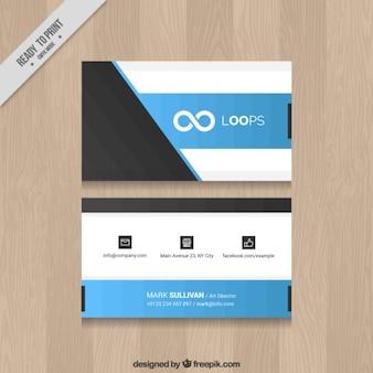 Cartão de empresa símbolo infinito