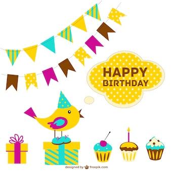 Cartão de feliz aniversário livre