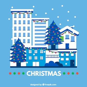Cartão de Natal azul