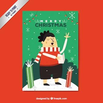 Cartão de Natal carol