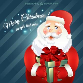 Cartão de Natal com o personagem Papai Noel