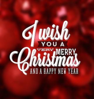 Cartão de Natal - Design tipográfico