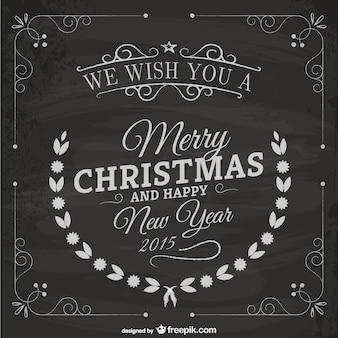 Cartão de Natal do vintage com textura negro