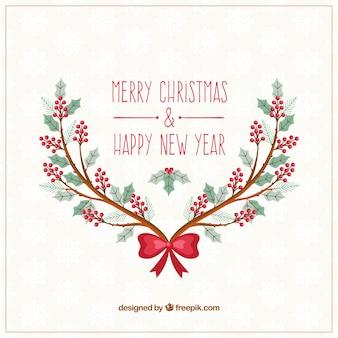 Cartão de Natal ramos