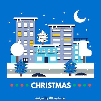 Cartão de Natal urbano
