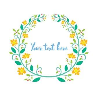 Cartão de quadro flor floral