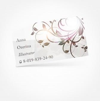 Cartão de tecer doces delicada ornamental