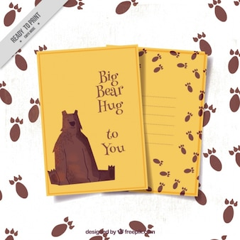 Cartão de urso amigável