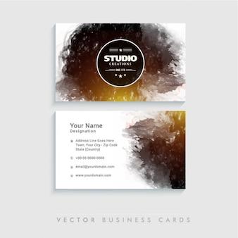 Cartão de visita abstrato com mancha escura