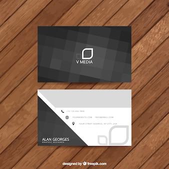 Cartão de visita abstrato preto