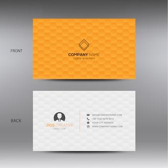 Cartão de visita alaranjado e branco